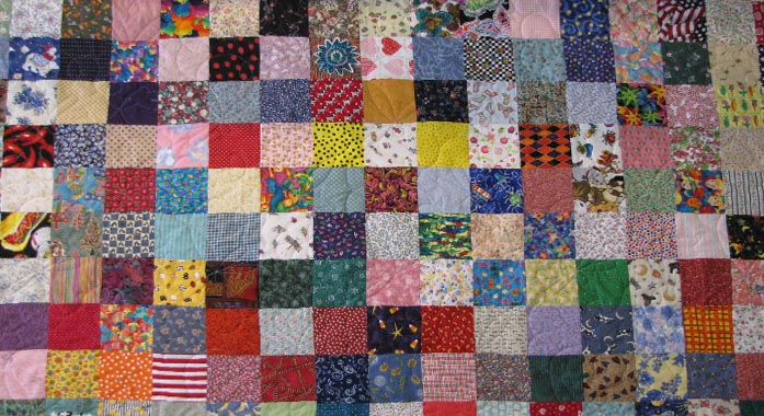 How to make a patchwork quilt by hand whitfield sewing for How to make a quilt template