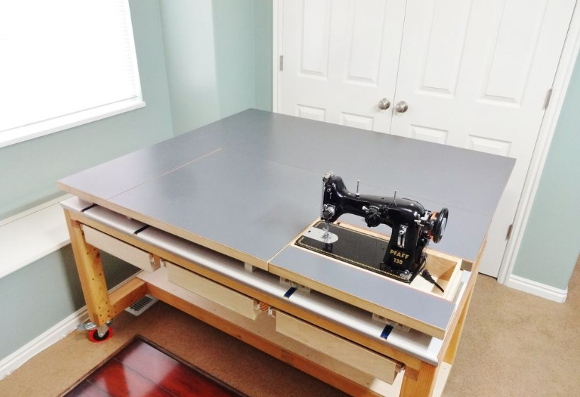 Build a Cheap Sewing and Quilting Table