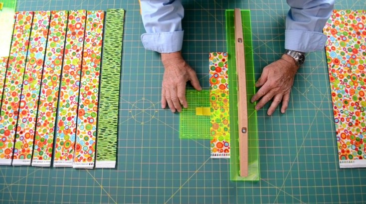 Cut Strips for Quilting